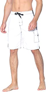 Unitop Men's Swim Trunks Classic Lightweight Board Shorts with Lining