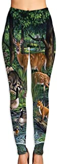 Cyloten Woodland Yoga Pants Washable Legging Tights Quick Dry Sportswear for Women Girl Workout