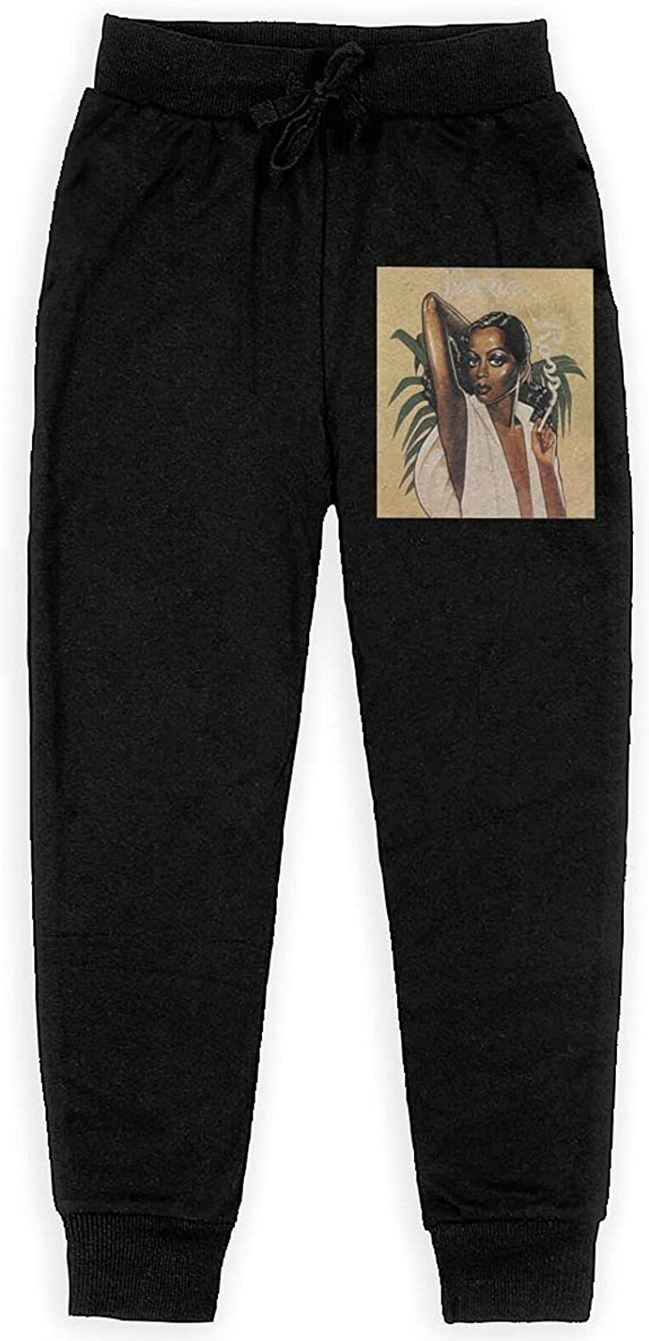 XINSHANGYICAN Diana Ross All Printing Sweatpants Teenager Sport Joggers Athletic Fashion Pants for Boys Girl