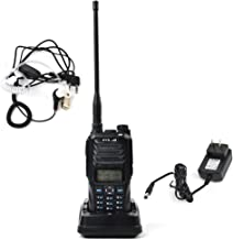 TC-589 Dual Band Two Way Radio VHF UHF Walkie Talkie 10W High Power Amateur Handheld Transceiver Dual Display Ham Radio with 2pin Air Acoustic Tube Earpiece