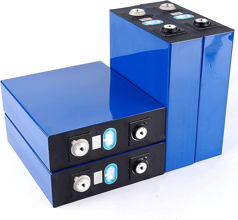 VARADOMO Nuevo 4 / 8pcs 3.2v 200ah Lifepo4 BaterÍa DIY 12v 24v No 200ah para El Sistema De Almacenamiento De EnergÍa Solar ElÉctrica para El Cabo ElÉctrico RV Puede Hacer Baterías En Barco,4PCS