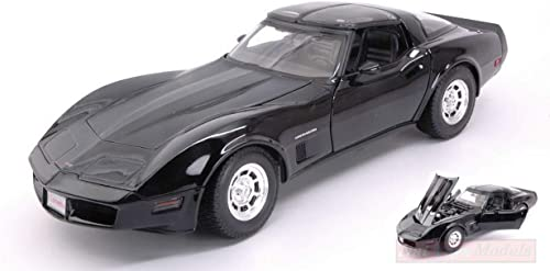nouveau Welly WE12546BK Chevrolet Corvette Coupe' 1982 noir 1 18 MODELLINO Die CAST