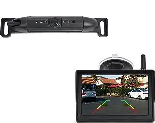 "PARKVISION AHD Digital Wireless Backup Camera Kit with 5"" IPS Screen Monitor,HD 720P License Plate Backup Camera kit,5 LED... photo"