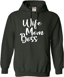 Adult Wife Mom Boss Mom Life Mother's Day Sweatshirt Hoodie