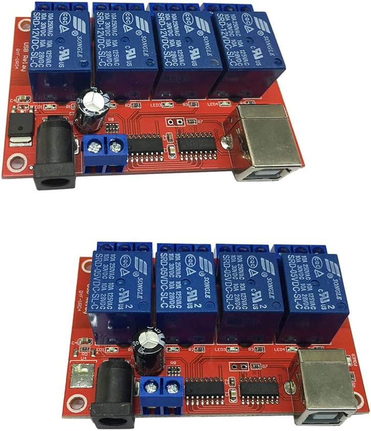 F Fityle Beauty products 12V + 5V DC 4 Milwaukee Mall Channel USB Load NC Relay NO Module 10A