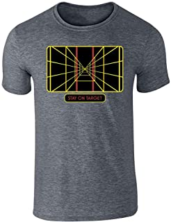 Stay On Target Targeting Computer SciFi Graphic Tee T-Shirt for Men