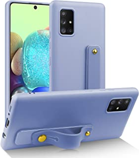 AIGOMARA Samsung Galaxy A71 5G Case with Finger Strap Silky Soft Touch Liquid Silicone Rubber Full Body Protection Shockpr...
