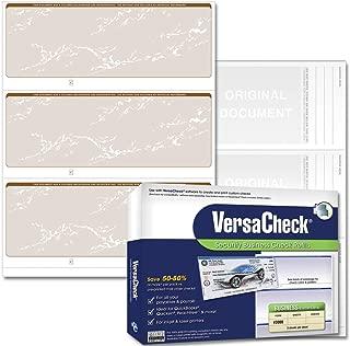 VersaCheck Security Business Check Refills: Form #3000 Business Standard - Tan Prestige - 250 Sheets