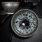 langchao Jianzhan Taza de té Taza Maestra Horno Maestro Tetera cambiada Hecha a Mano de cerámica Juego de té de Kung fu Caja Individual (08 Gotas de Aceite)