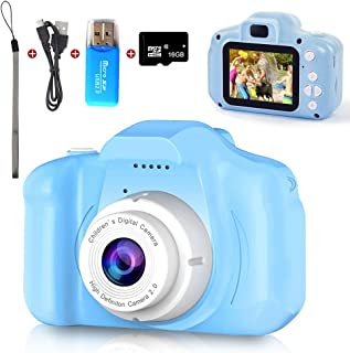 Digital Camera for Kids, Mini Blue Rechargeable Children Camera Shockproof 8.0MP HD Child Camcorder,Toddler Cameras with 1...