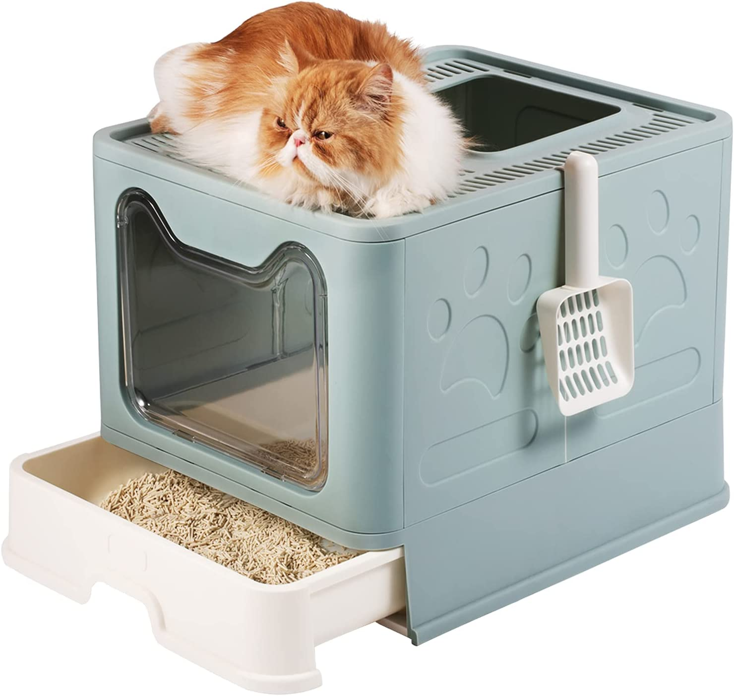 Cat Litter Super-cheap Box MOERUN Special price for a limited time Covered Lid Scoop with