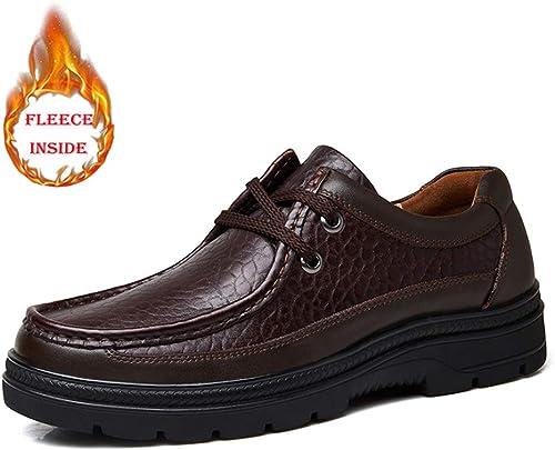 2018 Chaussures de Ville, Chaussures de Ville, Chaussures de Sport, Décontracté Richelieus Homme (Couleur   Warm Dark marron, Taille   43 EU)