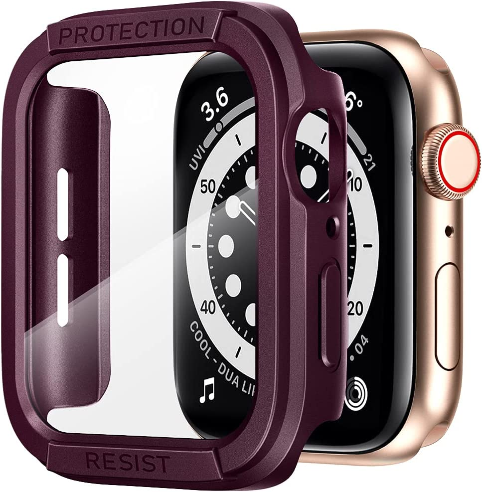 AdMaster Screen Protector Case Compatible Now free shipping Watch 44mm Popular product with Apple