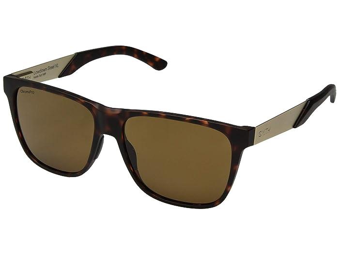 Lowdown XL Steel (Matte Dark Tort/Chromapop Brown Polarized) Athletic Performance Sport Sunglasses