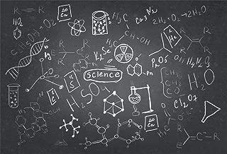 AOFOTO 8x6ft Chemistry Course Classroom Photography Backdrop Handwritten Science Drawing Chalkboard Blackboard Background for School Term Begins Graduation Ceremony Photo Studio Drapes