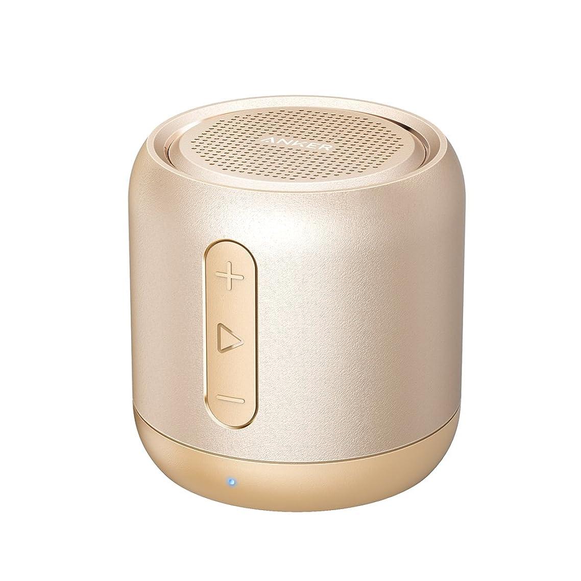 のれん放散する従順なAnker SoundCore mini (コンパクト Bluetoothスピーカー) 【15時間連続再生 / 内蔵マイク搭載/micro SDカード & FMラジオ対応】(ゴールド)