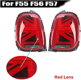 for Mini Cooper F55 F56 2019 -upRear Taillights Assembly 12V 3D Optic Union Jack LED Rear Taillights,Turn Signal Brake Ligh Red Lens