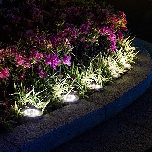LED Solaire lumière souterraine en Acier Inoxydable de Jardin Lampe de pelouse pour l'extérieur Jardin Maison étanche Décoration d'éclairage (5 Pack)