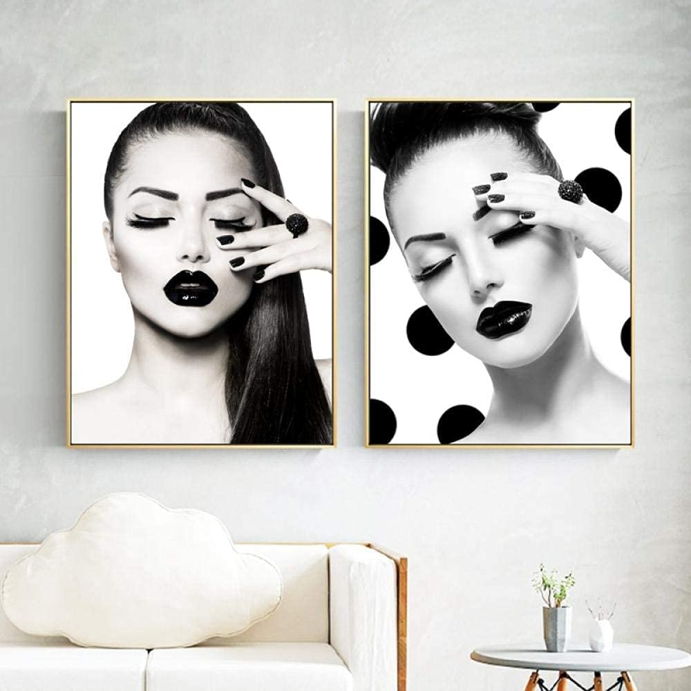 Beauty Fashion Model OFFicial site Girl with Mesa Mall Hair and Vogue Prints Posters Bla