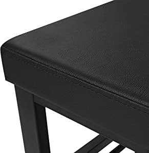 Retrofish Black Shoe Rack Bench 3 Tier Padded Storage Bench Entryway Storage Organizer with Seat for Entryway Hallway Living Room, Wood Look Accent Furniture, US Shipping (Black)