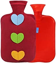 Asdfnfa PVC Hot Water Bottle Explosion-Proof Safety Large Hot Water Bag with Super Soft Cover Heat Or Cold Therapy 2L (Color : Red, Size : One Size)