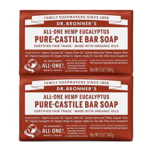 Dr Bronners Magic Soap All One Obeu05 5 Oz Eucalyptus Dr. Bronner'S Bar Soap (2-pack)