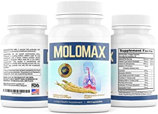 Lung Detox & Cleanse with Horseradish Decongestant Support (60 Pills, 1 Month Supply) Reduces Mucus in Respiratory System, Ex-Smokers, Supports Lung Health for Men & Women, COPD| Includes Vitamin C