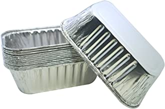 MYStar Mini Disposable Aluminum Foil Baking Pans for Cake, Bread and Loaf, 6.1
