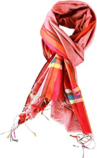 CLOSE OUT !! 1/2 Price Sale - Lotus House Women's Fashion Scarf Sharp Silk Look !! Large Red