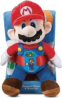 Mario Hat Toss 40 x 50 Throw Pillow & Blanket (2pc)