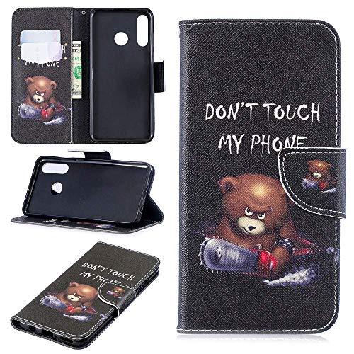 CoverKingz Handyhülle für Huawei P30 Lite - Handytasche mit Kartenfach P30 Lite Cover - Handy Hülle klappbar Motiv Bär