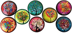Set of 8 Funky Trees Wood Cabinet Knobs