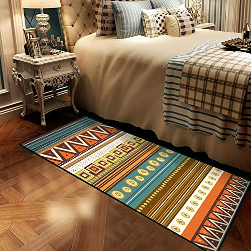 QIDI Tapijt, rechthoekig, tapijt voor thee, antislip mat op het nachtkastje, geometrische motieven, voor woonkamer/slaapkamer/ramen in bovind/stans/tatami