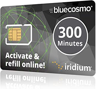 BlueCosmo Iridium 300 Min Prepaid Global SIM Card - Satellite Phone Airtime – 1 Year Expiry - No Activation Fee – No Monthly Fee - No Rollover - Easy 24/7 Online Activation