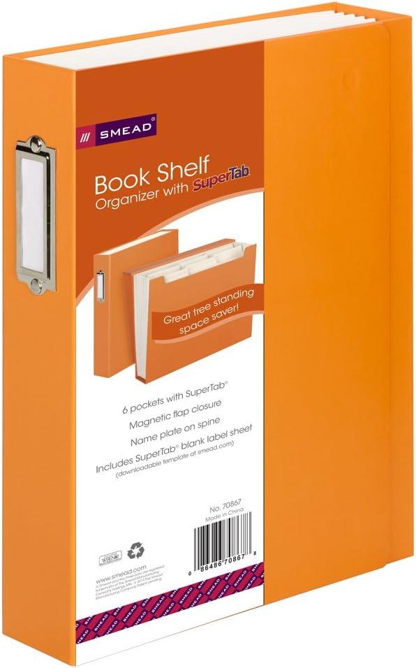 Cheap SALE Start Smead SuperTab Bookshelf Organizer 6 pockets Oran Size Popular overseas Letter