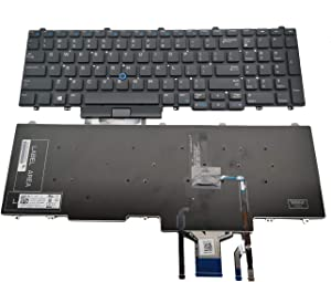 New Replacement Keyboard for Dell Latitude E5550 E5570 5550 5580 5590 5591, Precision 3510 3520 7510 7520 7710 7720 Series Laptop with Pointer with Backlit No Frame