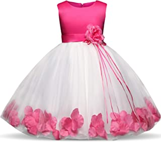 4-10 Years Kids Flower Bridesmaids Dresses for Girls Wedding Elegant Party Pageant Dress Formal Gown