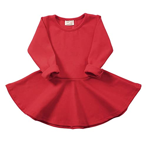 c421410d1f8d Infant Toddler Baby Girls Dress Cozy Ruffles Long Sleeves Cotton