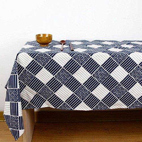 LD&P hoogwaardige Japanse stijl tafelkleed katoen en linnen salontafel, ronde tafel, rechthoekige tafel, Western tafelkleed doek Verschillende maten
