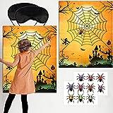 28 Stücke Halloween Party Spiele Set Pin die Spinne im