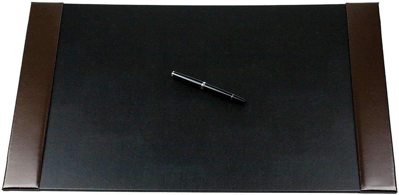 Schreibunterlage mit 2 Seitenleisten CAMBRIDGE Top Grain Rindspaltleder mit heller Kontrastnaht dunkelbraun B07CQSFX6W   | Wirtschaftlich und praktisch