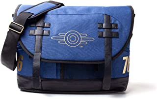 76 Vault-tec Logo Messenger Bag, Unisex, One Size, Blue/Black (MB645372FAL) Mochila tipo casual, 42 cm, Azul (Blue)