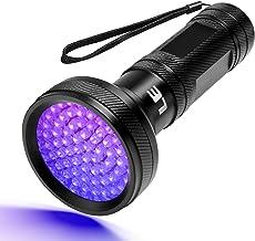 LE UV-lamp, blacklight zaklamp LED, 68 LED 395nm ultraviolette zaklamp voor valse bankbiljetten, urine van honden en ander...