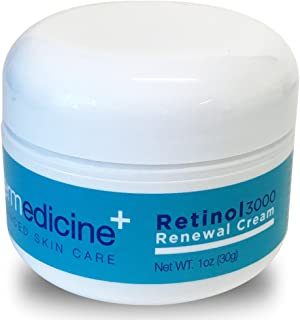 Retinol 3000 Renewal Cream Anti-Aging for Face | w/ Jojoba, Hyaluronic Acid, Squalane | Premium Quality | Helps Smooth Wrinkles & Fine Lines | Improves Texture for More Youthful Skin | 1 fl oz / 30 g