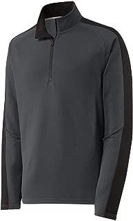 DRIEQUIP Mens Textured Colorblock 1/4-Zip Pullover Sizes XS-4XL