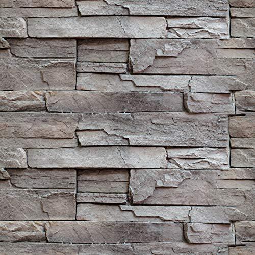 murando Tapete selbstklebend 10m Wandtattoo dekorative Möbelfolie Dekorfolie Fotofolie Panel Wandaufkleber Wandposter Wandsticker - Steinoptik Steinwand f-B-0228-an-a