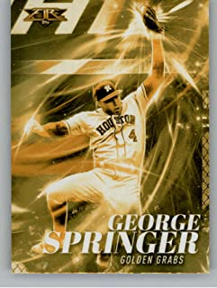 2017 Topps Fire Golden Grabs Gold Minted #GG-8 George Springer NM-MT Astros