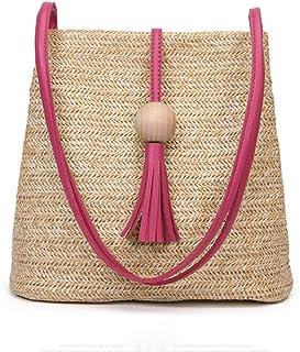 Turelifes Tassel Buckets Totes Handbag Women's Casual Shoulder Bags Soft Leather Crossbody Bag