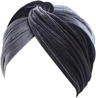 DECOU Bright Color Twist Pleasted Hair Wrap StrecthTurban Cap Hat