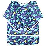 Paw Legend Long Sleeved Baby Bib - No Leak Bib for Babies - Toddler Bib (6-24 Months) with Pocket, Turtle